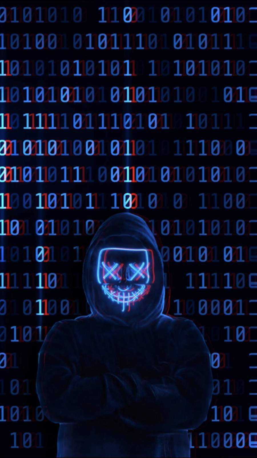 Hacker Man iPhone Wallpaper