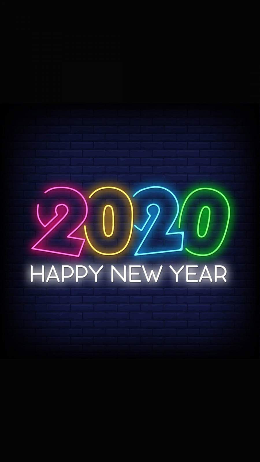 Happy New Year 2020 iPhone Wallpaper 1
