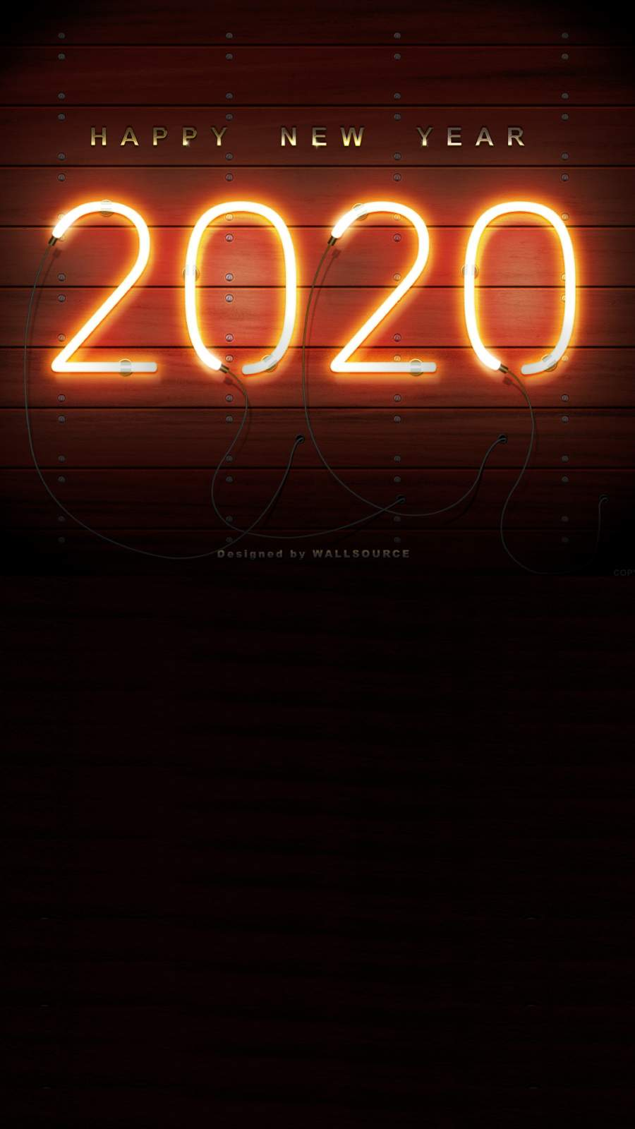 Happy New Year 2020 iPhone Wallpaper