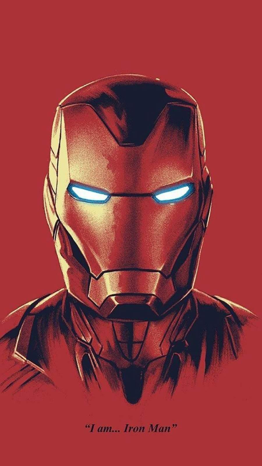 I am Iron Man Mark 85 Armor iPhone Wallpaper
