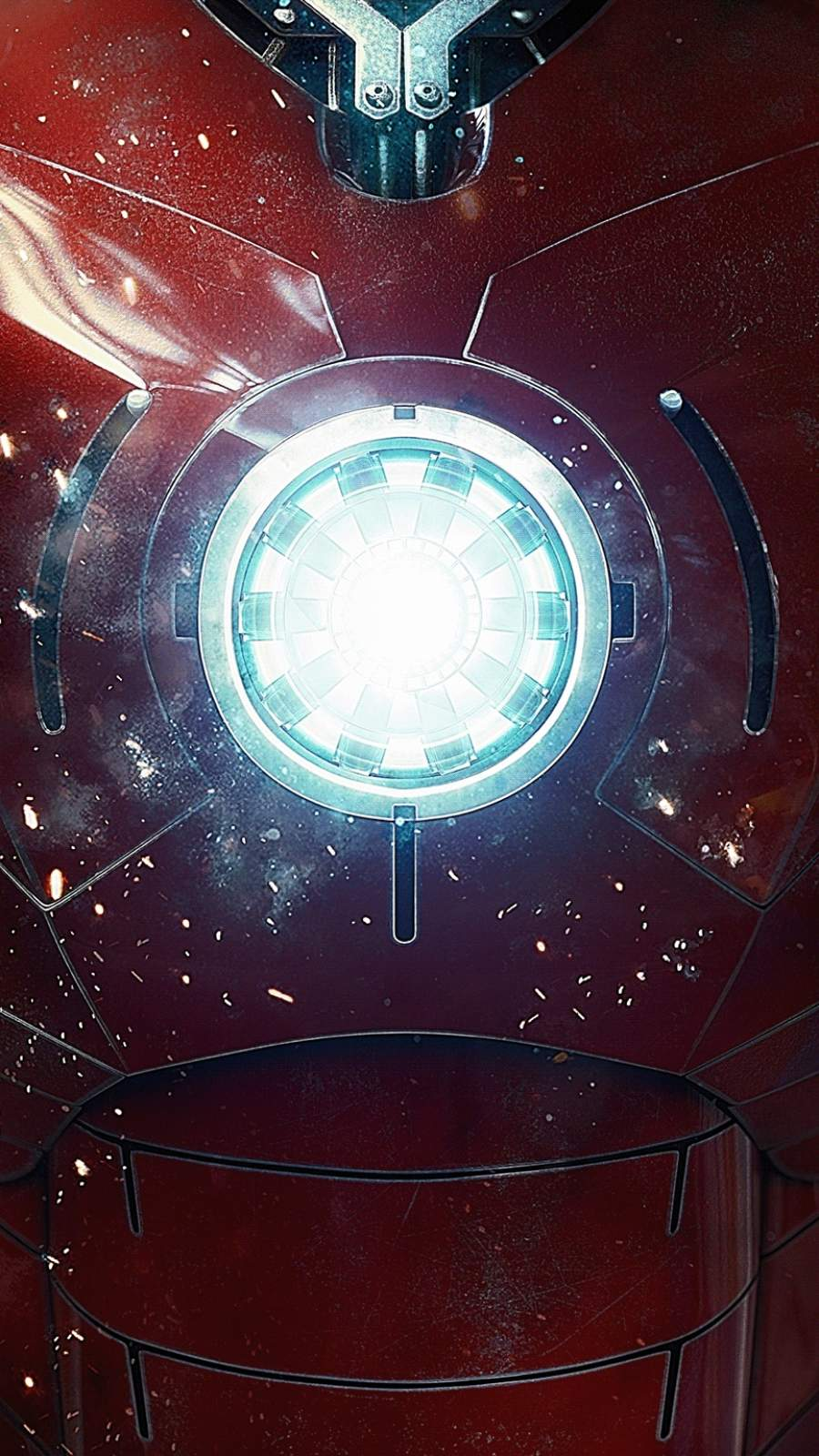 Iron Man Arc Reactor Armor iPhone Wallpaper