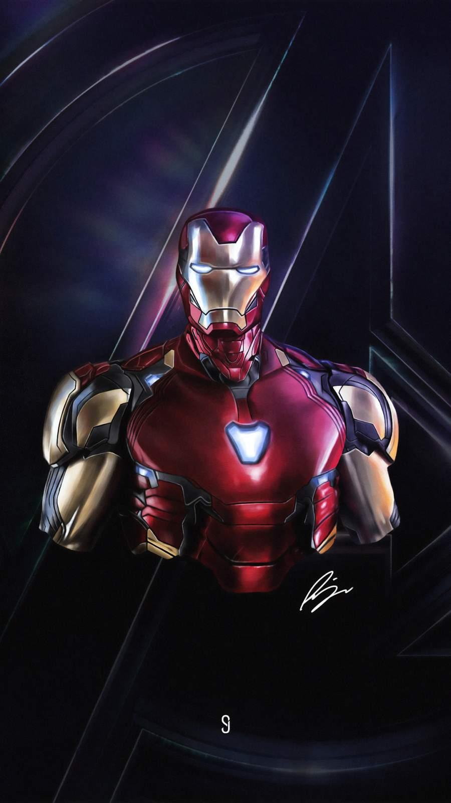 Iron Man Avengers 4K iPhone Wallpaper