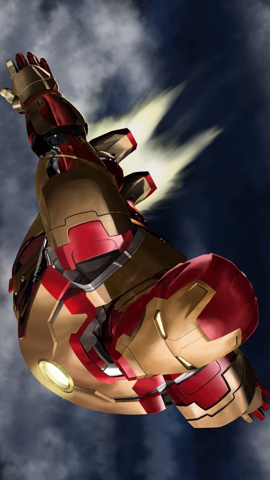 Iron Man Fly iPhone Wallpaper