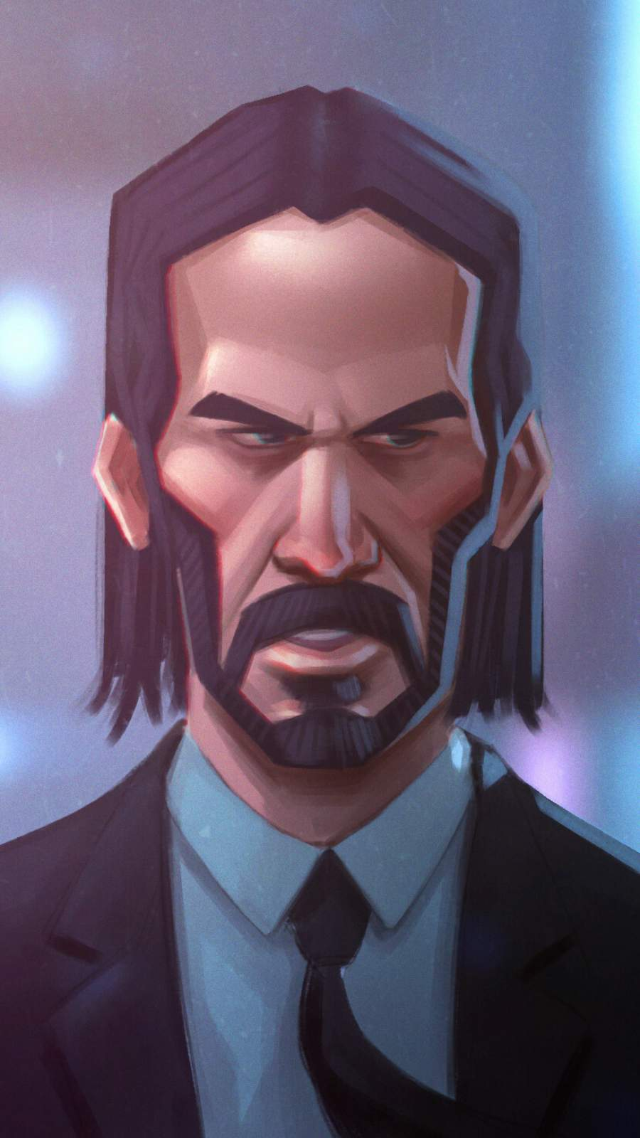 John Wick Face iPhone Wallpaper