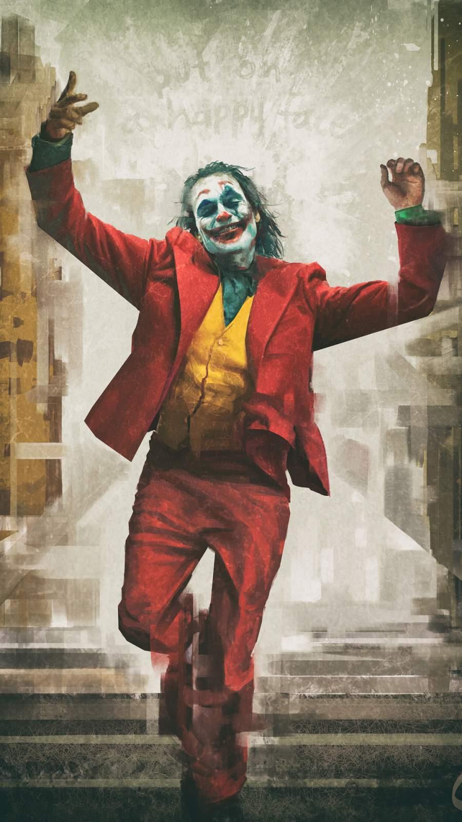 Joker Happy Face iPhone Wallpaper