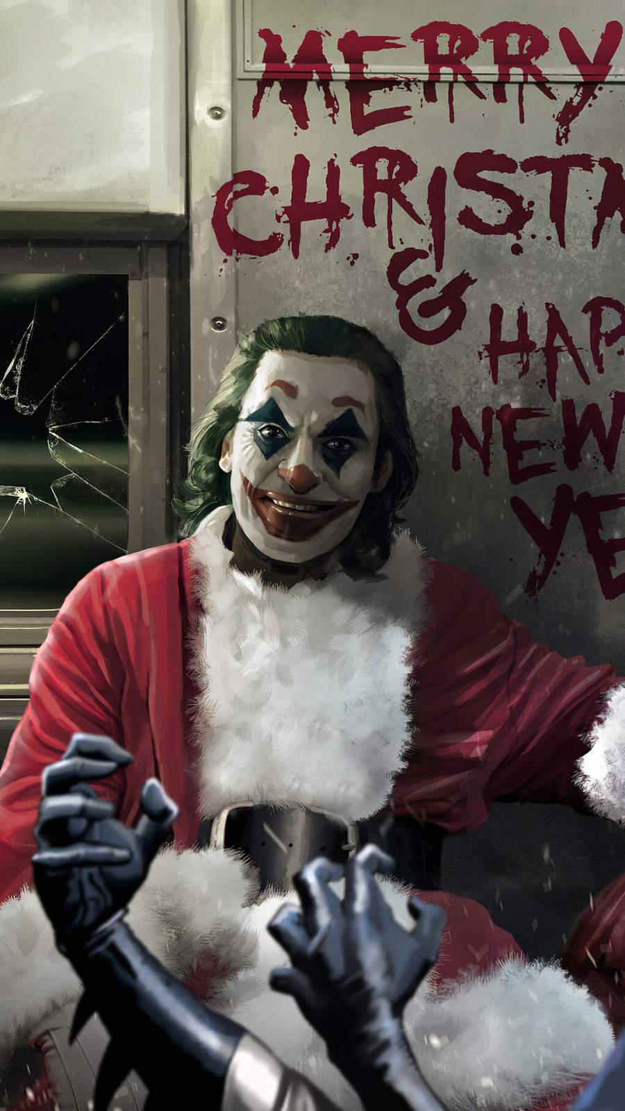 Joker Happy New Year iPhone Wallpaper