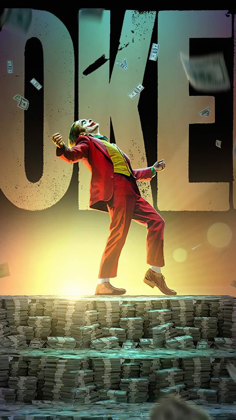 Joker Money iPhone Wallpaper