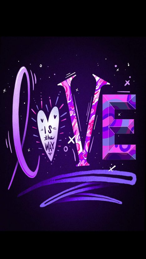 LOVE is the Way iPhone Wallpaper
