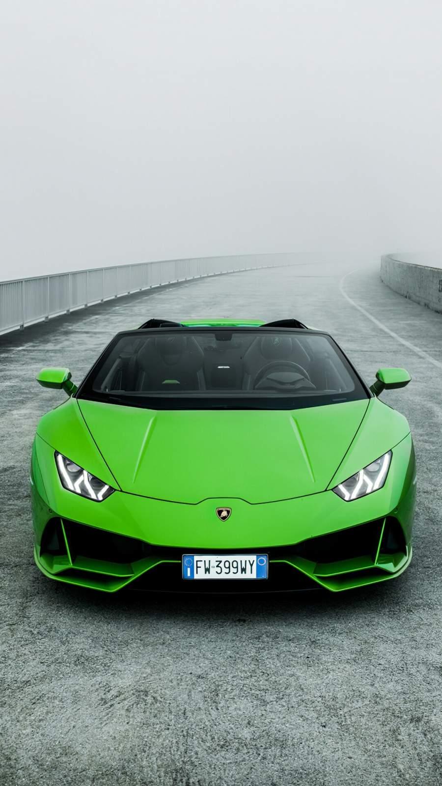 Lamborghini Huracan Evo Spyder iPhone Wallpaper