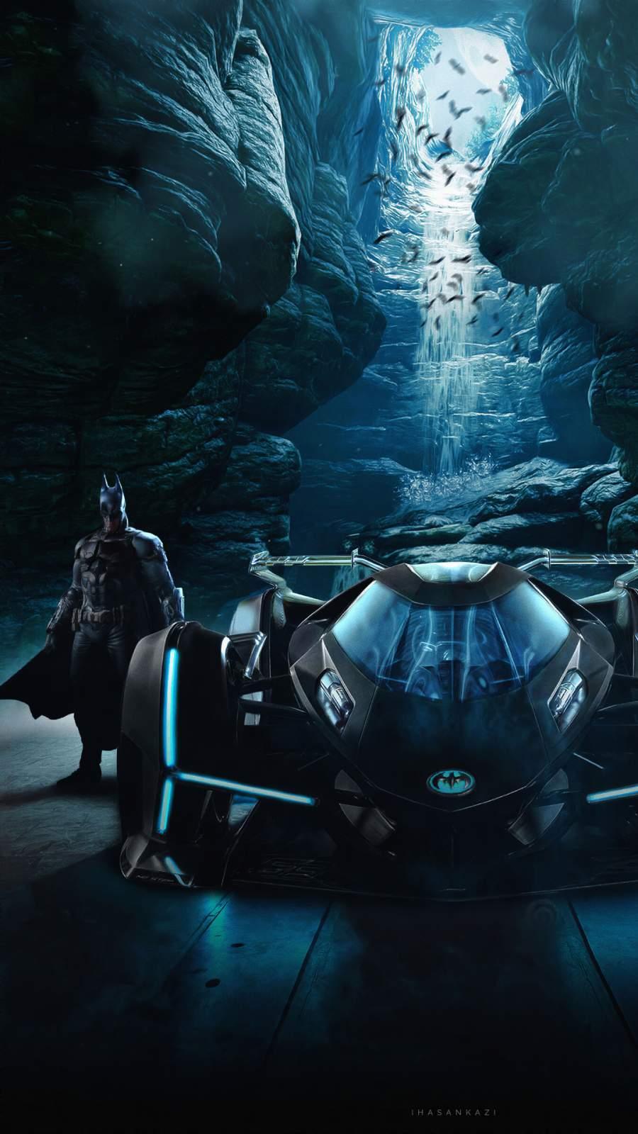 Lamborghini Vision Gran Turismo Batmobile iPhone Wallpaper