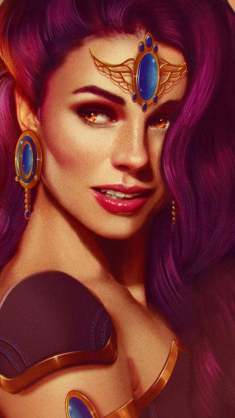 Lana Solaris Fantasy Girl iPhone Wallpaper