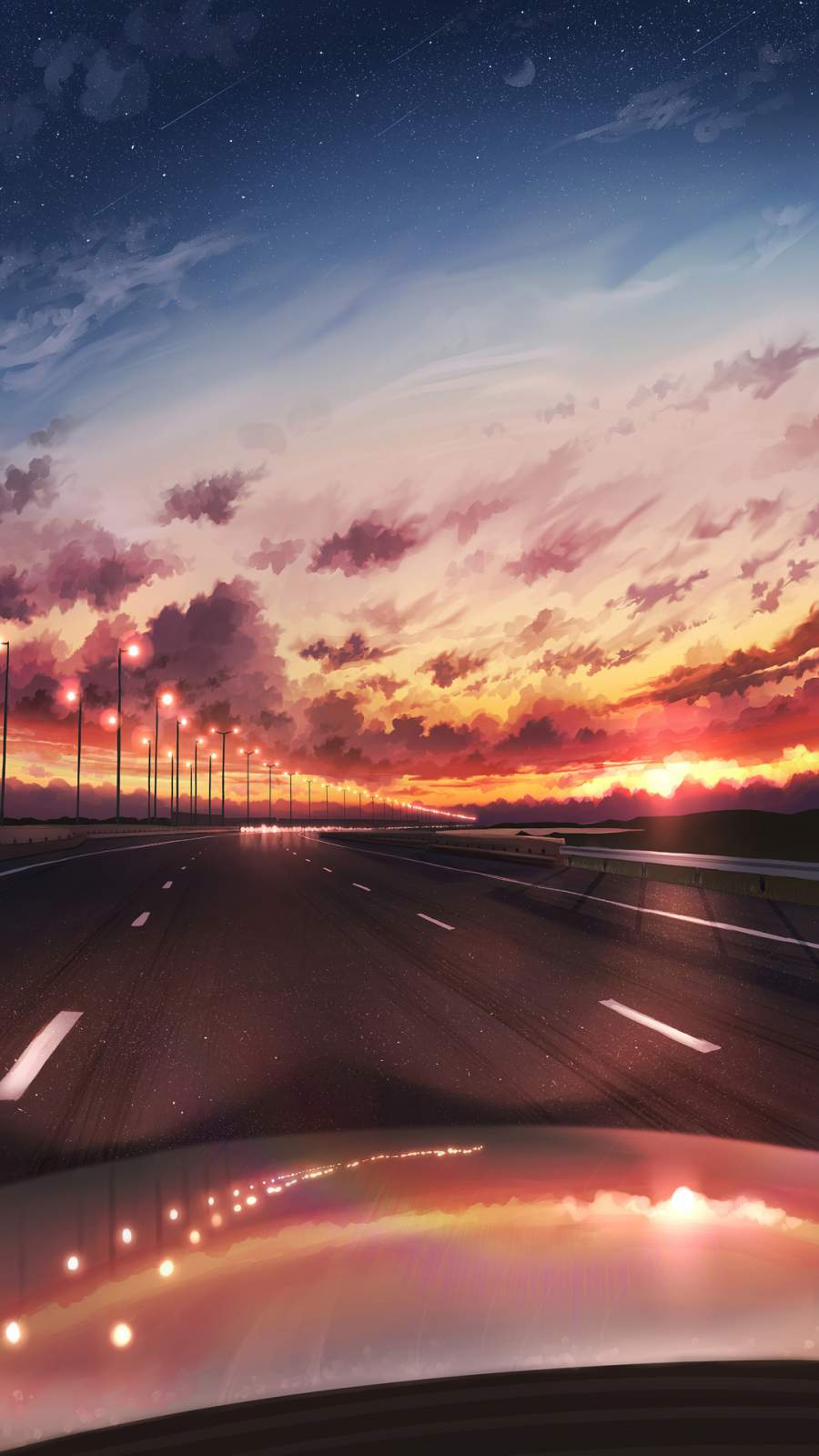Long Drive iPhone Wallpaper