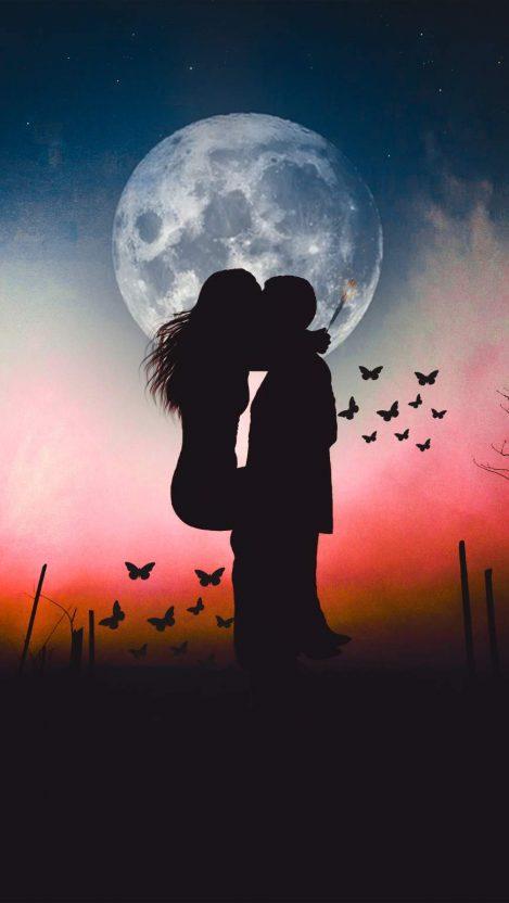 Love ad Kisses iPhone Wallpaper