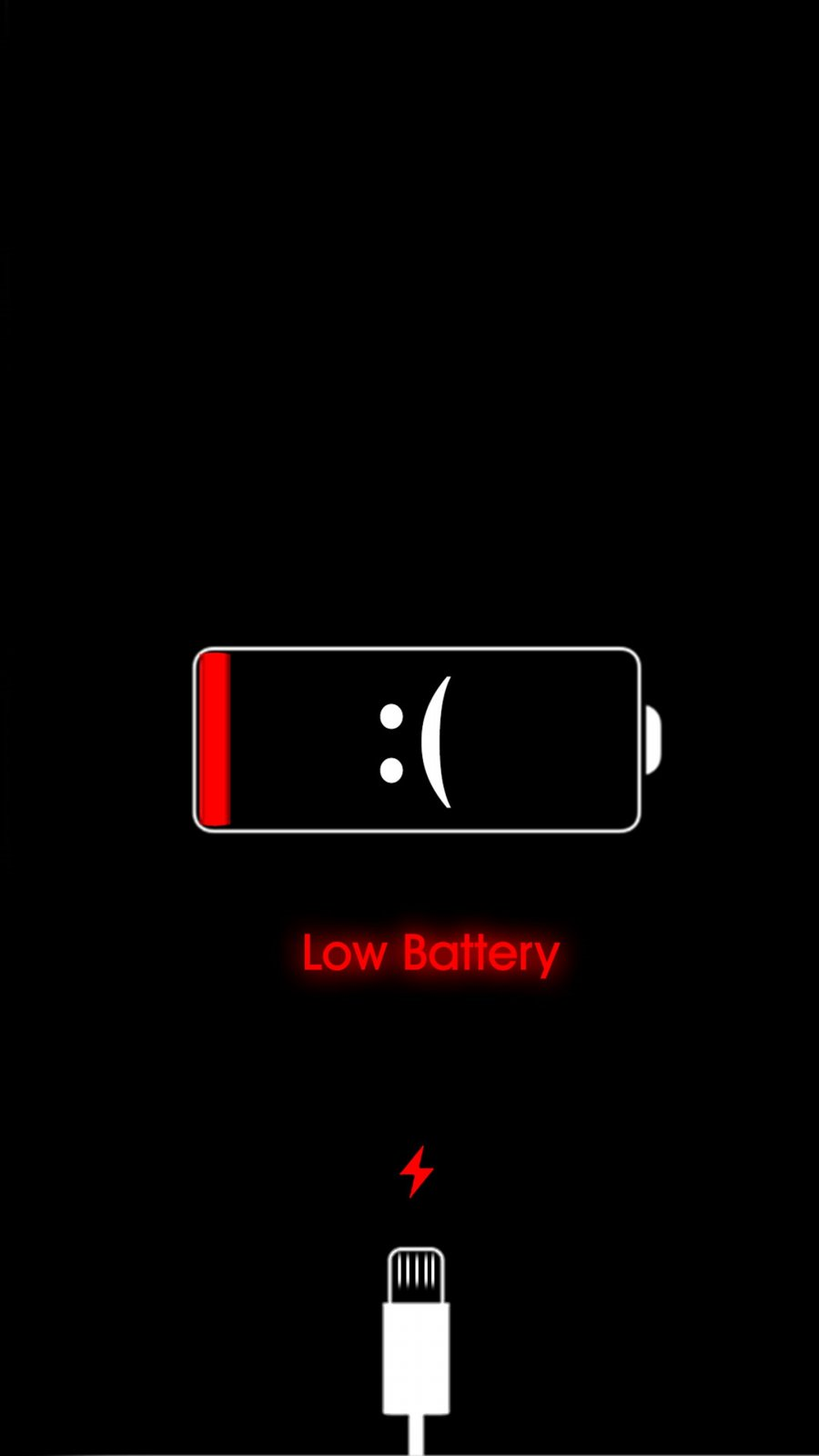 Low Battery iPhone Wallpaper 1