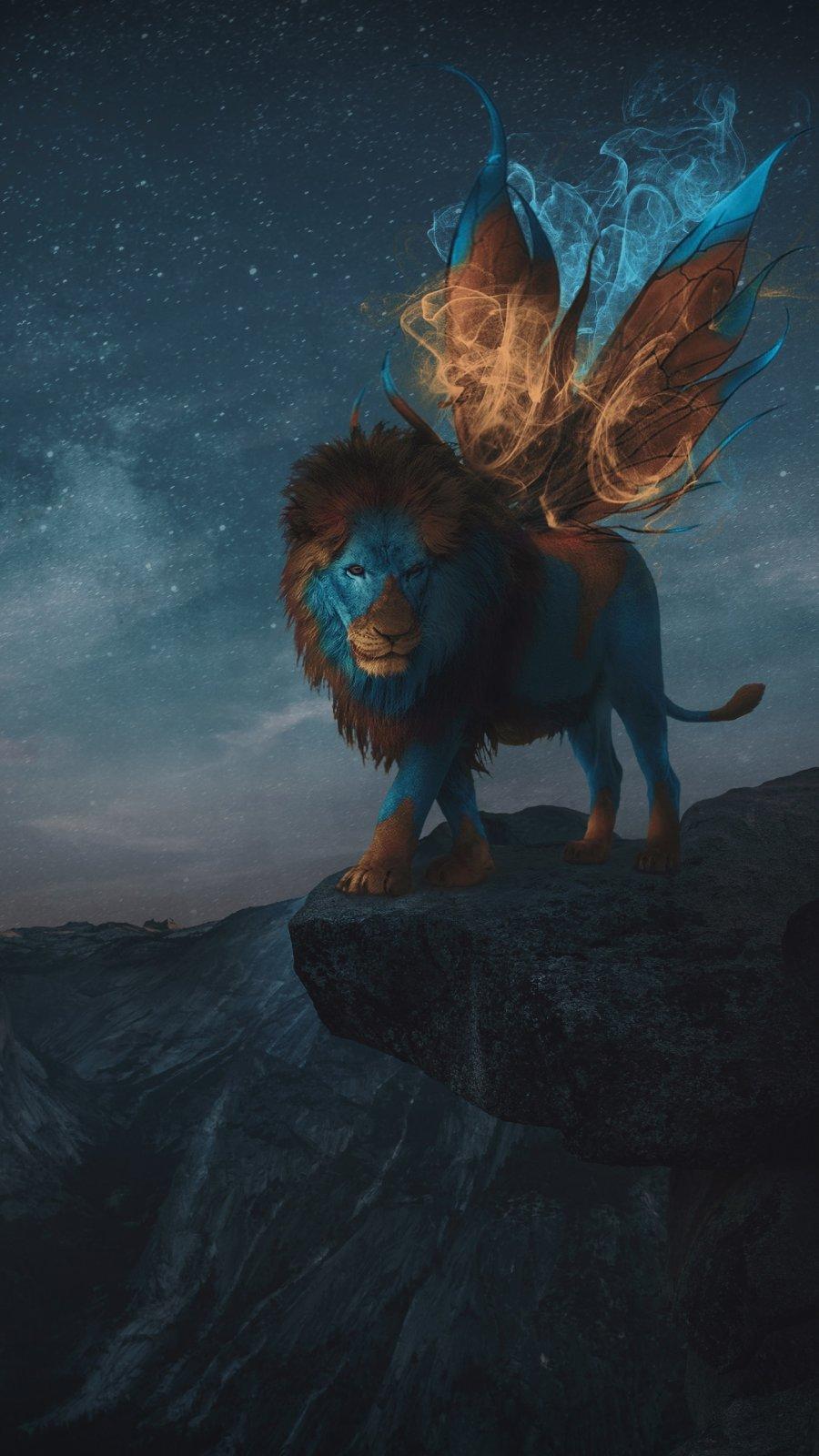 Magic Lion iPhone Wallpaper