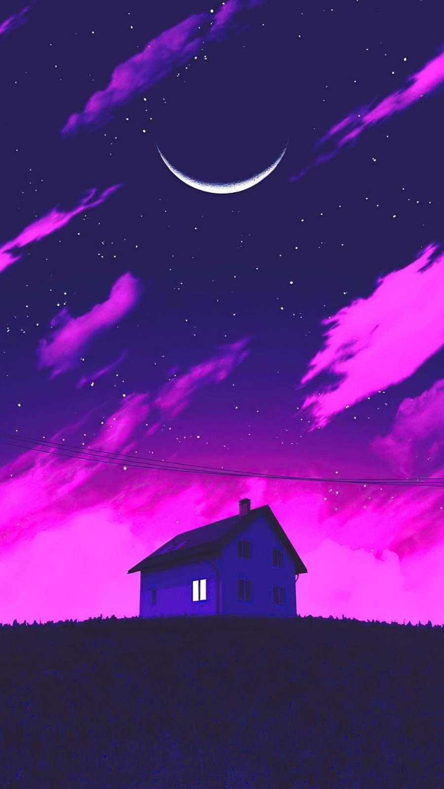 Magical Night iPhone Wallpaper
