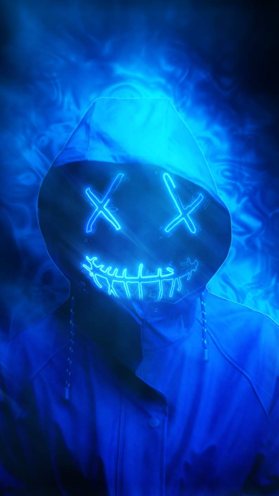 Masked Blue iPhone Wallpaper