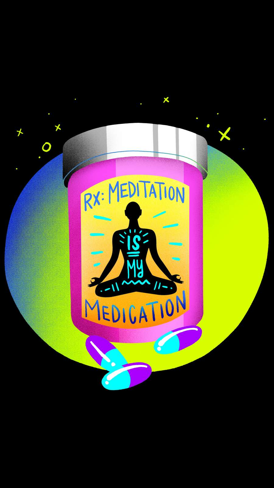 Meditation Medication iPhone Wallpaper