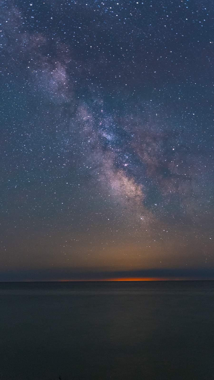 Milkyway from Ocean iPhone Wallpaper