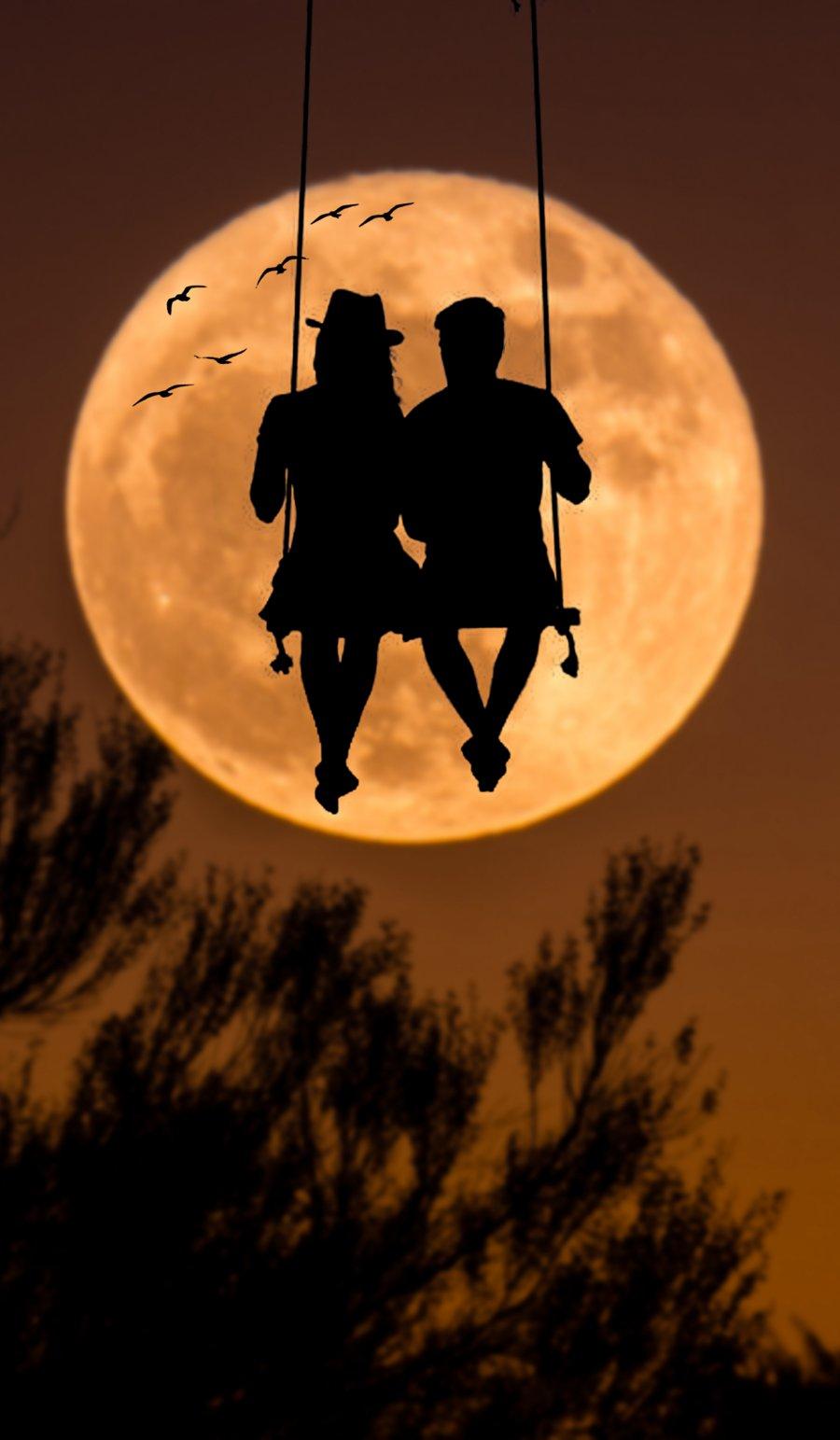 Moonlight Lovers iPhone Wallpaper