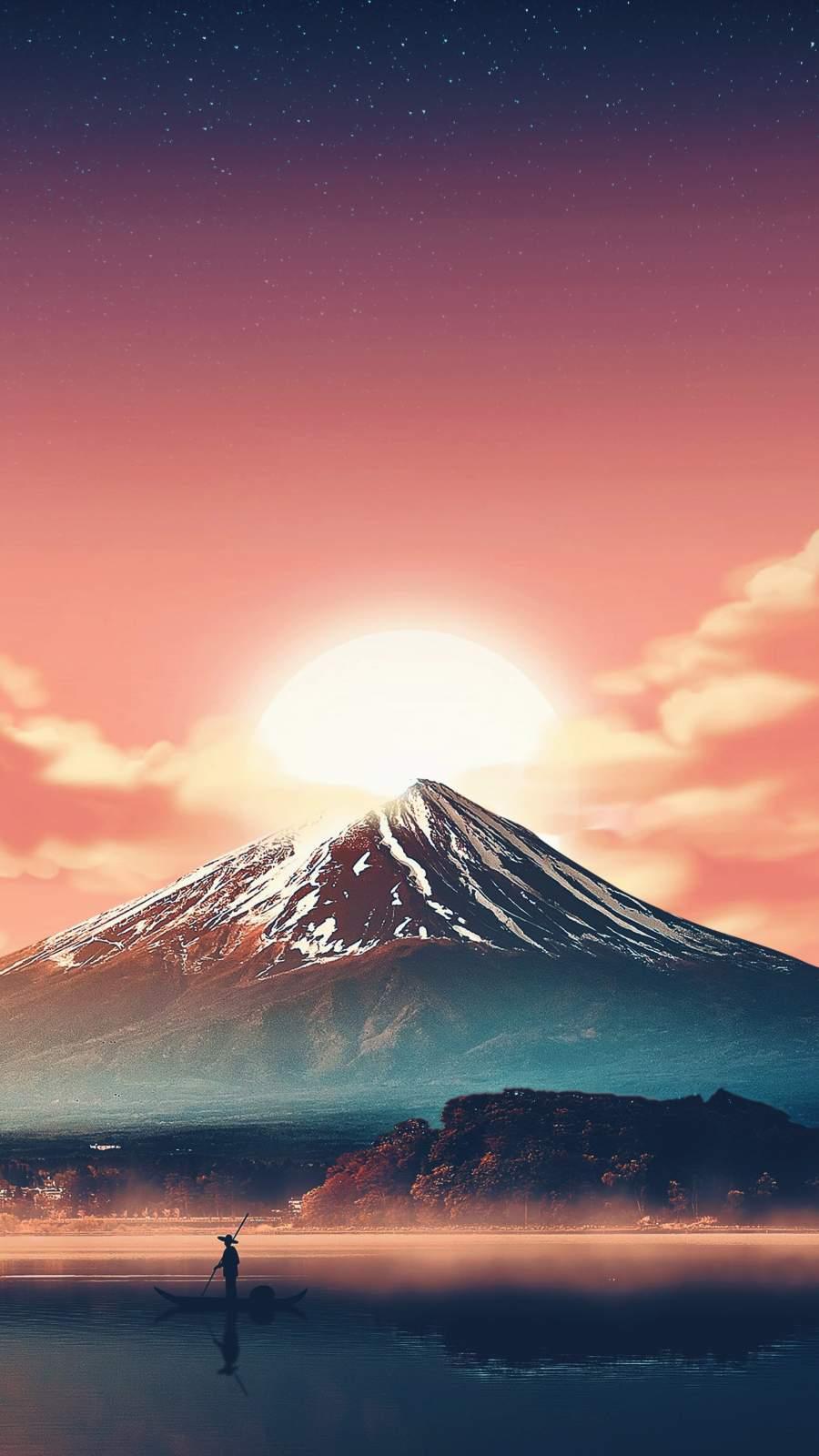 Mount Fuji iPhone Wallpaper