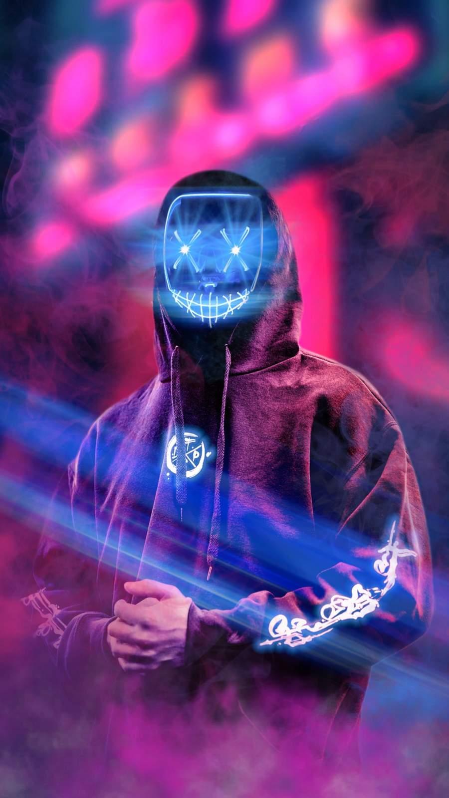 Neon Dude iPhone Wallpaper