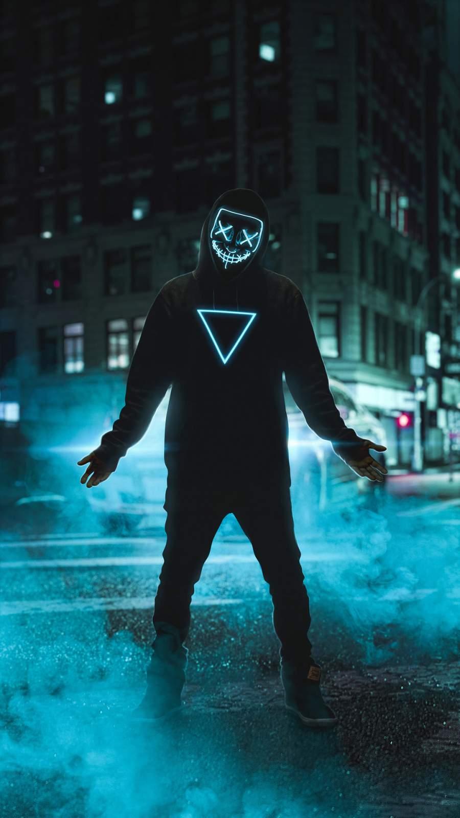 Neon Man iPhone Wallpaper