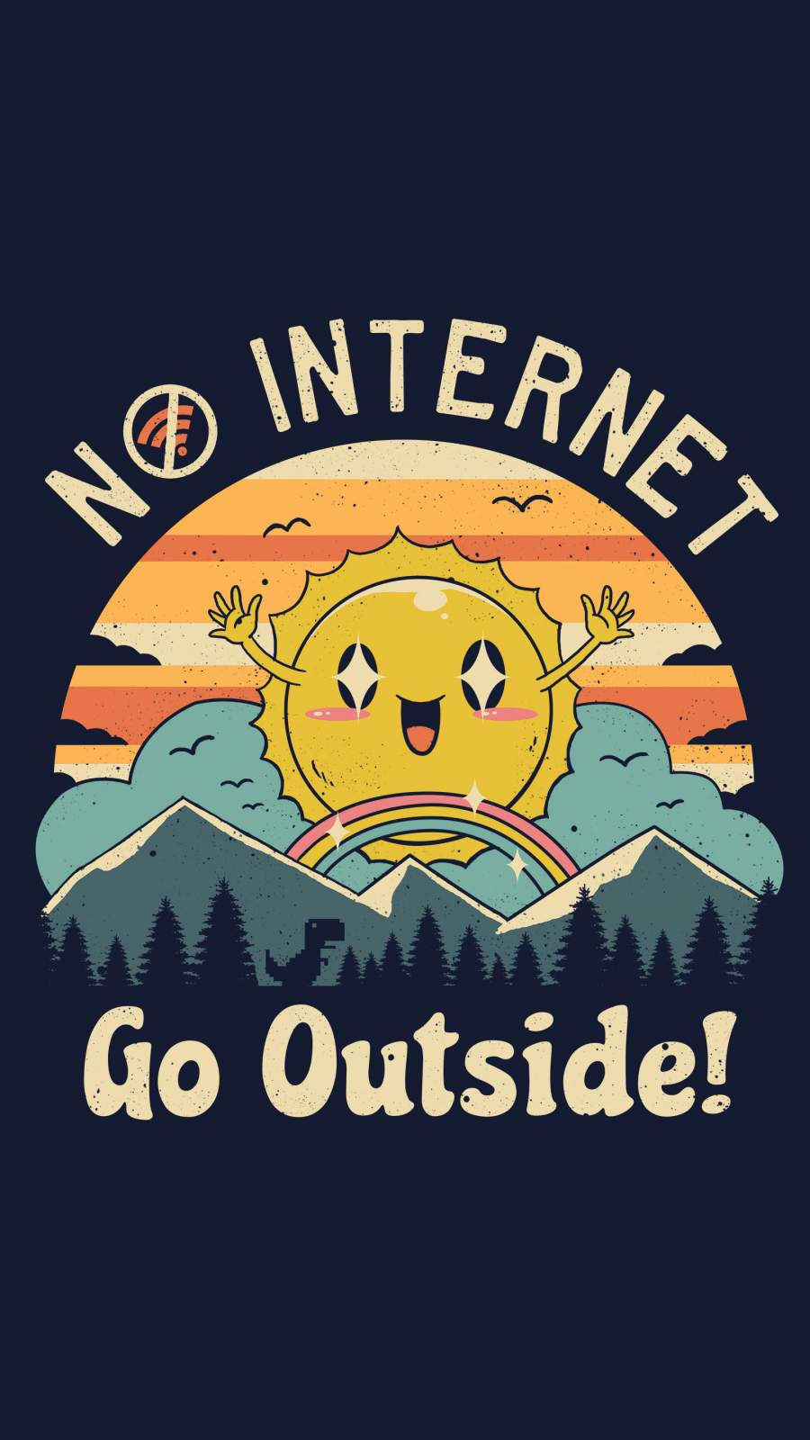 No Internet Vibes iPhone Wallpaper