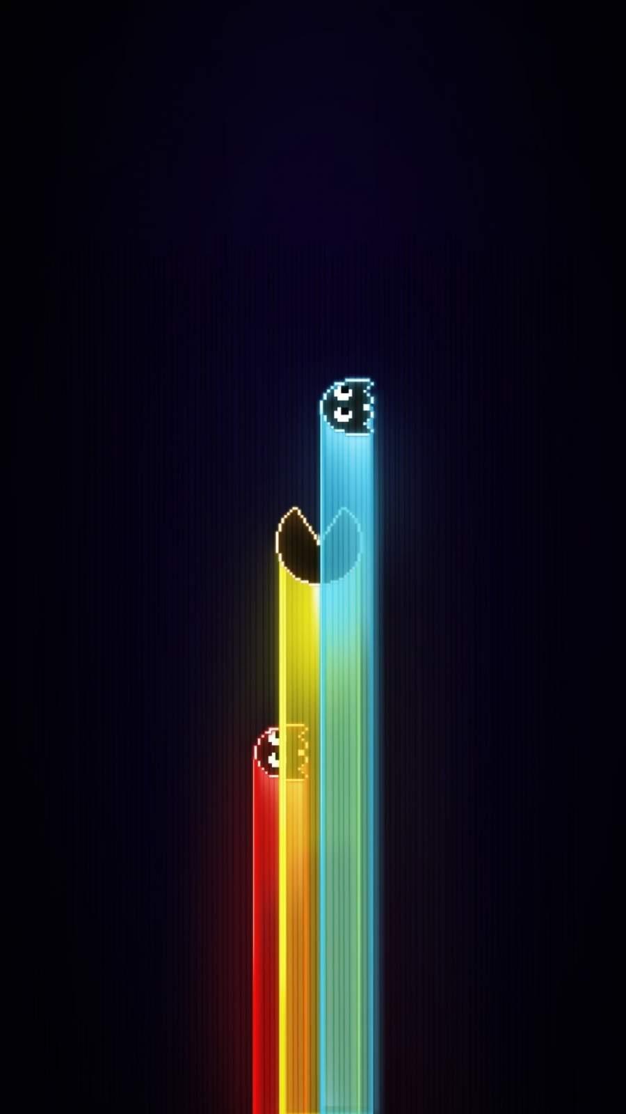 Pacman Amoled iPhone Wallpaper