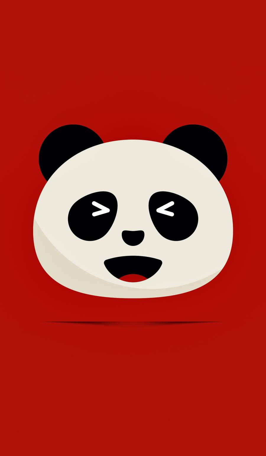 Panda Emoji iPhone Wallpaper