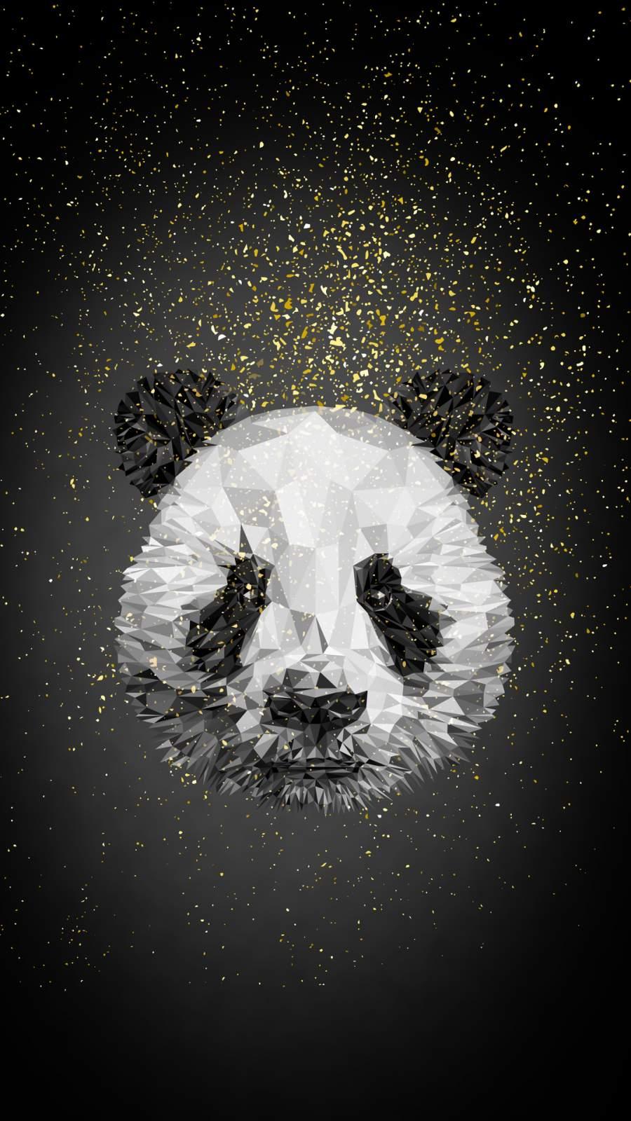 Panda Low Poly iPhone Wallpaper