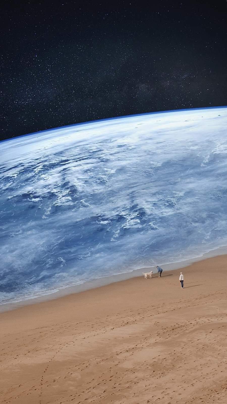 Planet Earth Ocean iPhone Wallpaper
