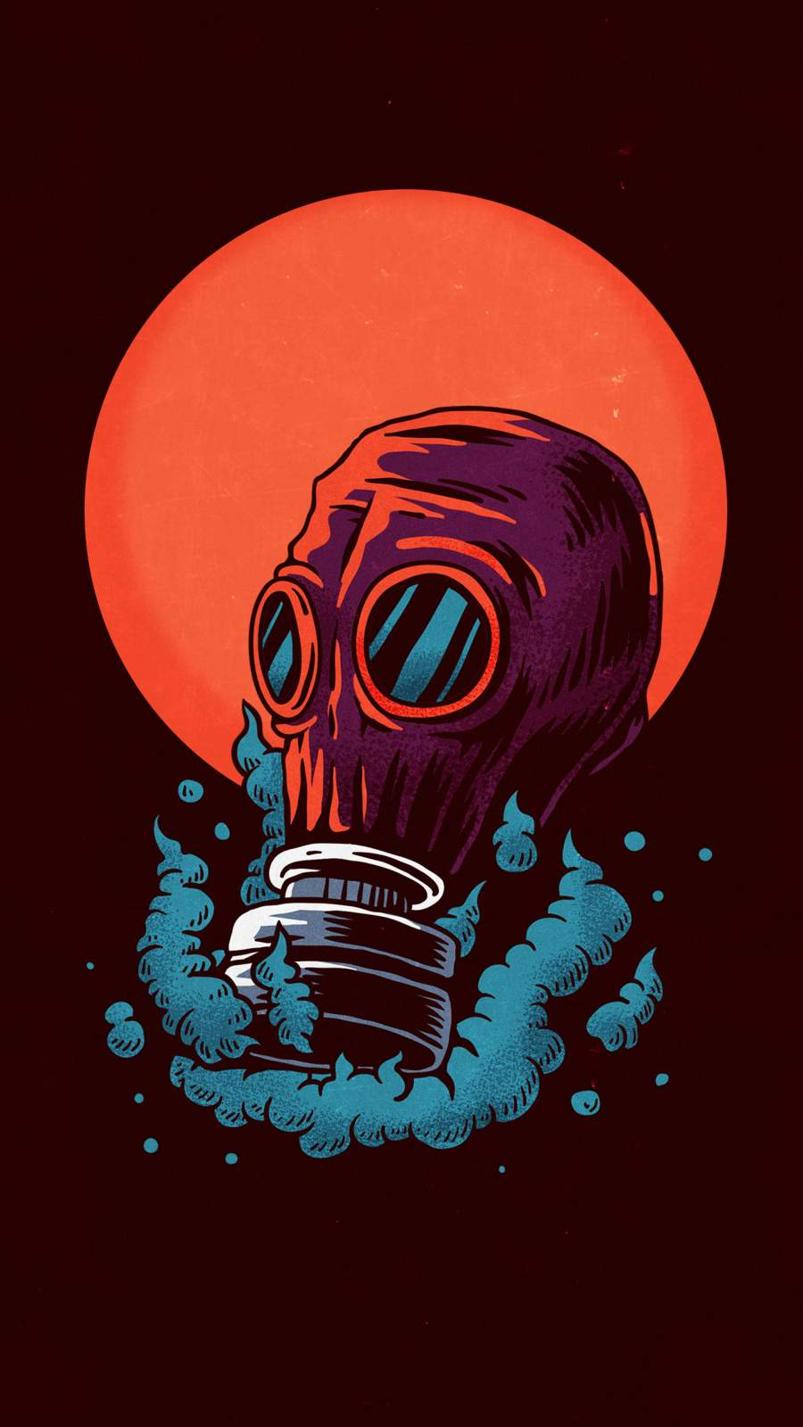 Poison Gas Mask iPhone Wallpaper