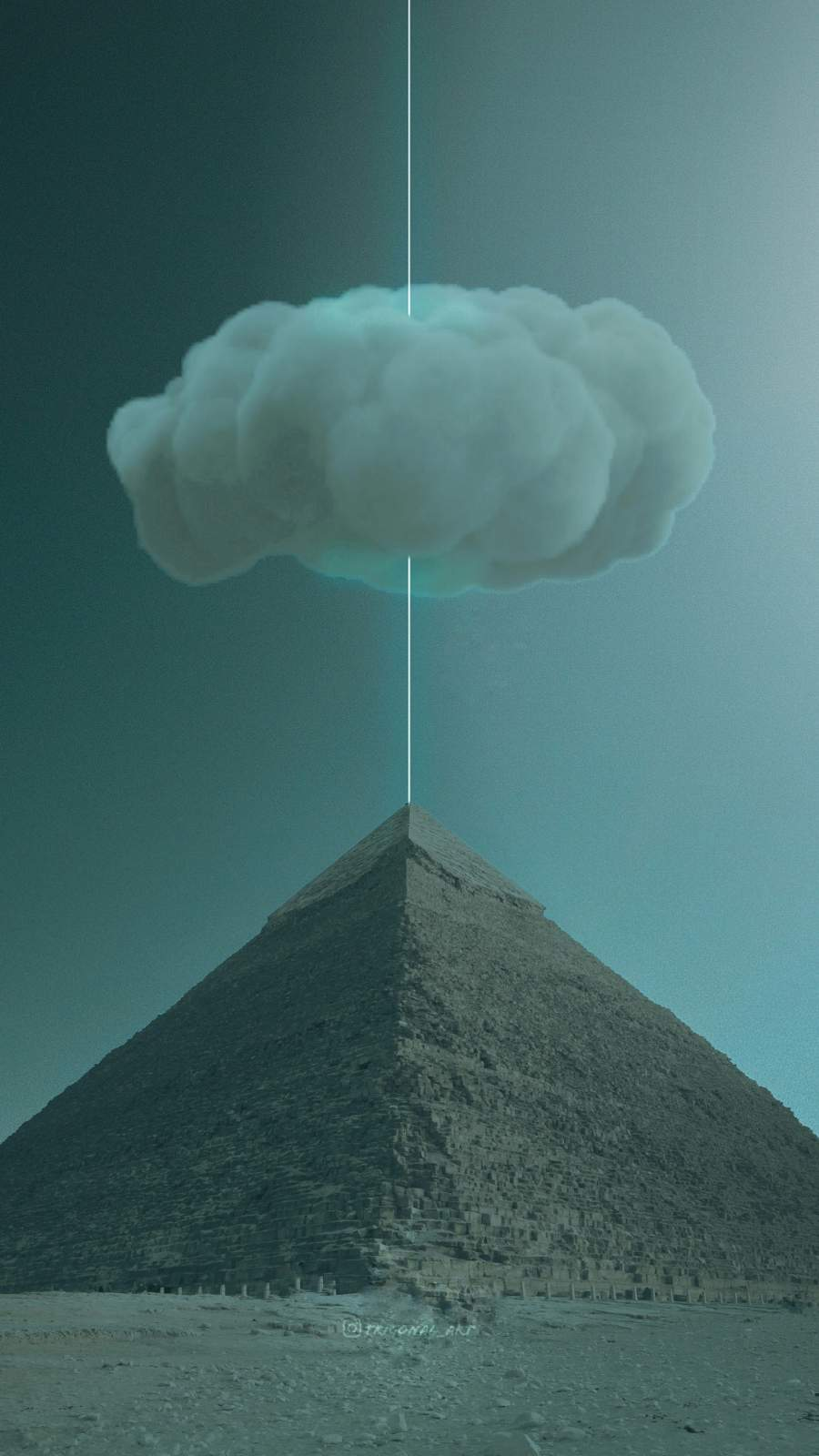 Pyramid Cloud iPhone Wallpaper