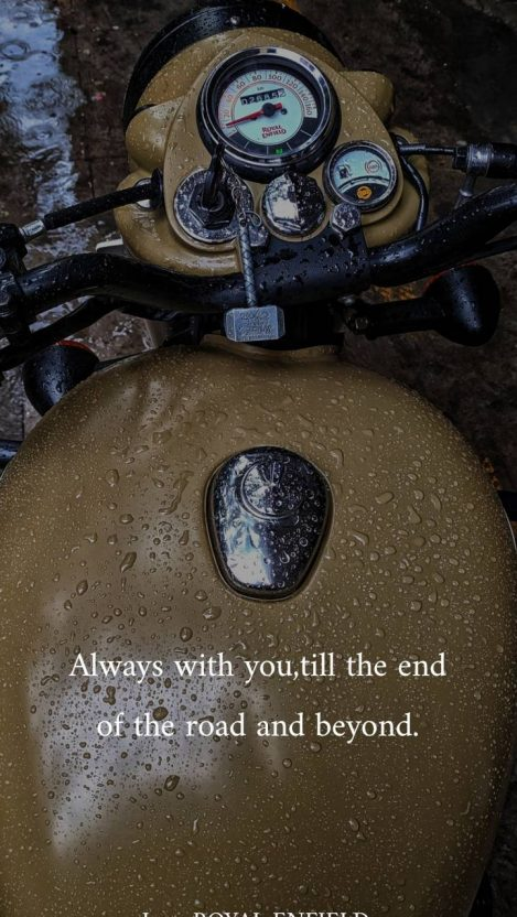 Royal Enfield Quotes iPhone Wallpaper