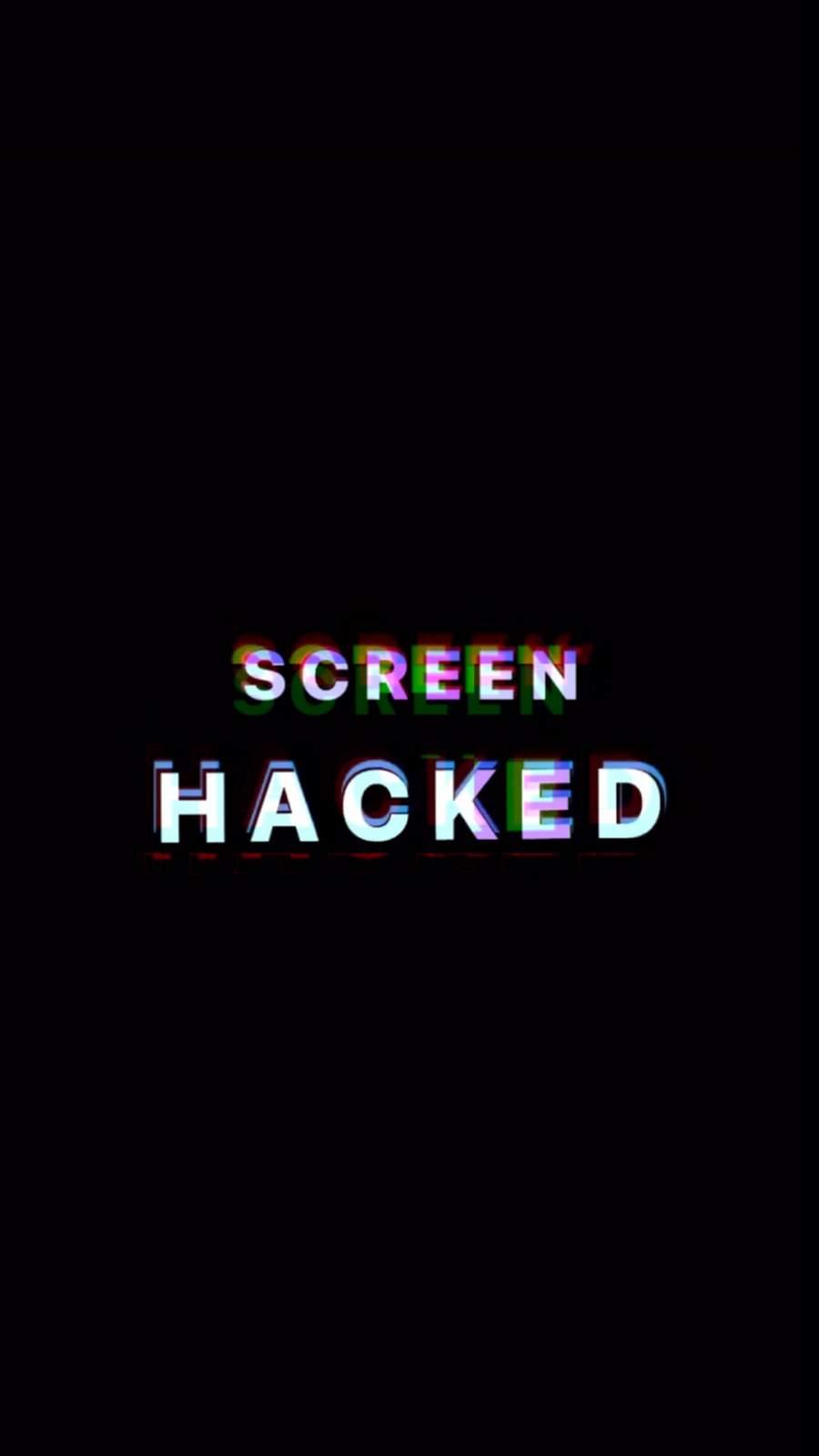 Screen Hacked iPhone Wallpaper