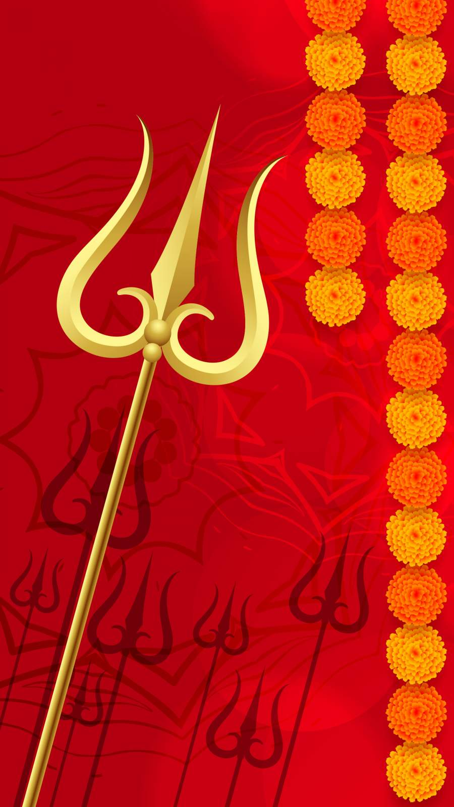 Shiv Trishul iPhone Wallpaper