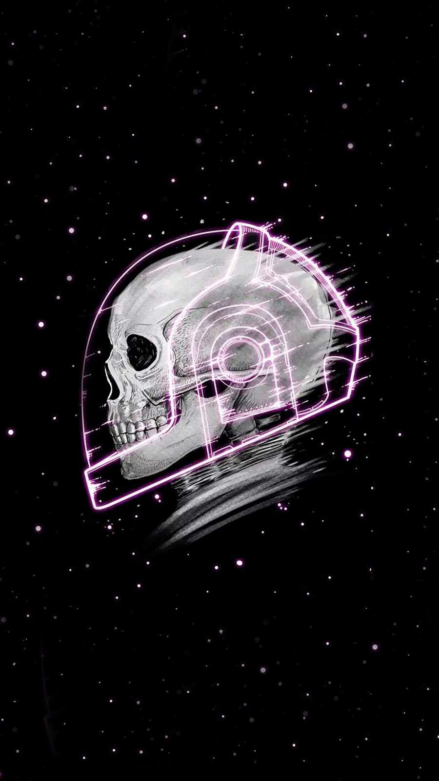 Skull Stars iPhone Wallpaper