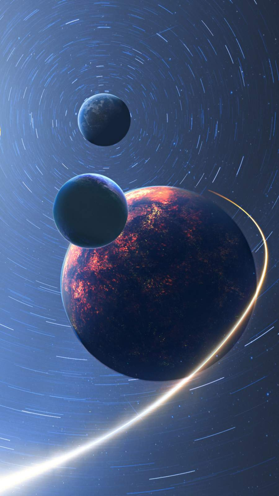 Space Planets iPhone Wallpaper