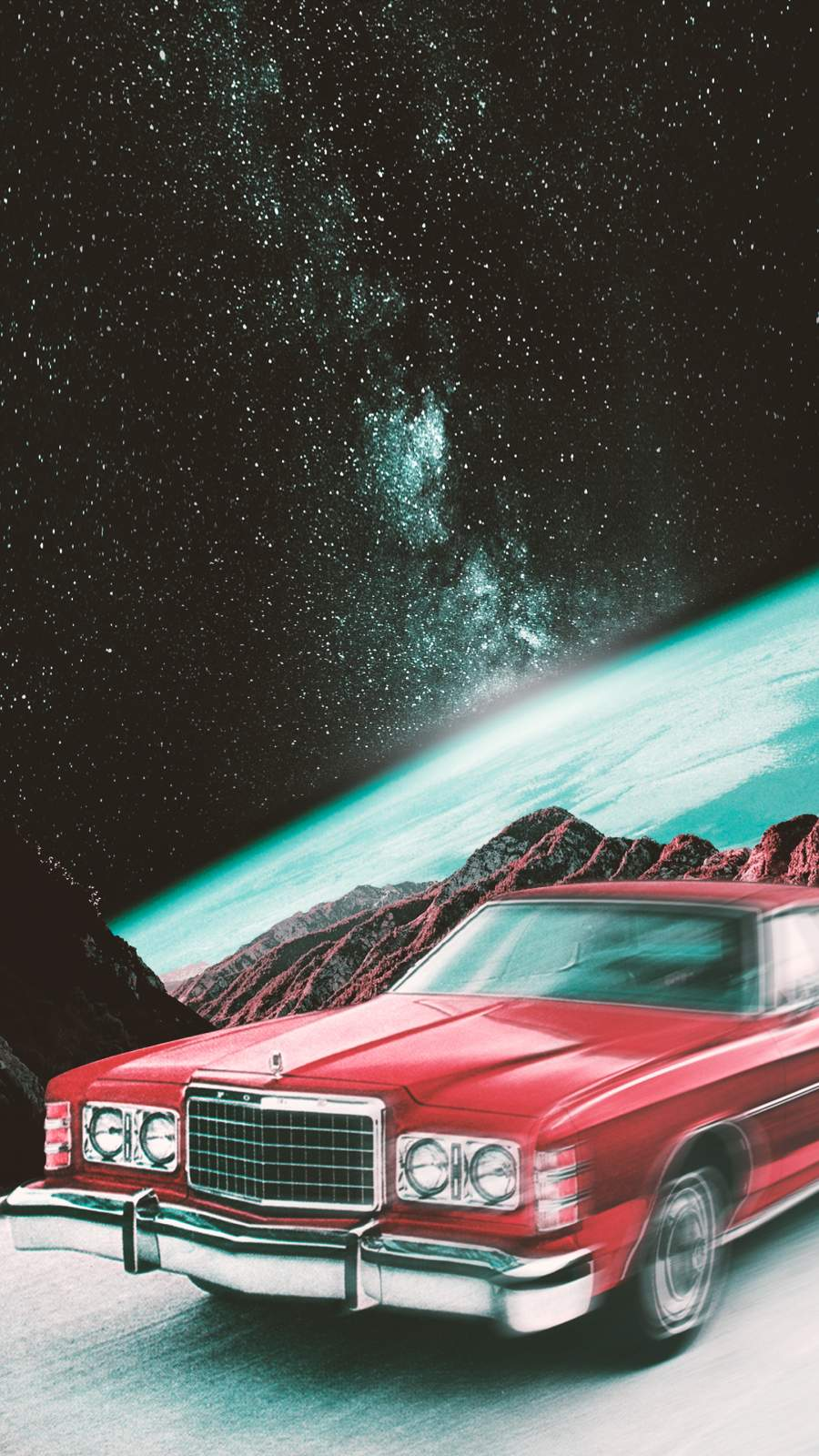 Space Rider iPhone Wallpaper