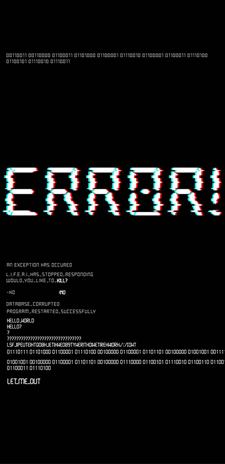 System Error iPhone Wallpaper