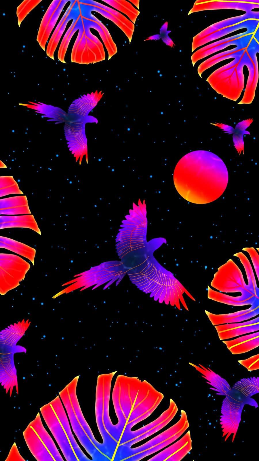 Tropical Birds iPhone Wallpaper