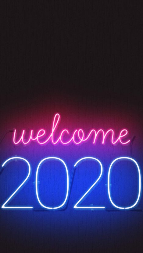 Welcome 2020 iPhone Wallpaper - iPhone Wallpapers