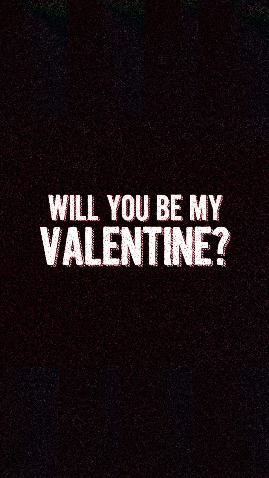 Will you be my Valentine iPhone Wallpaper