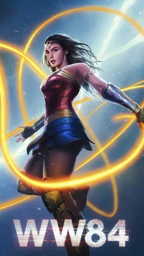 Wonder Woman 1984 4K Art iPhone Wallpaper