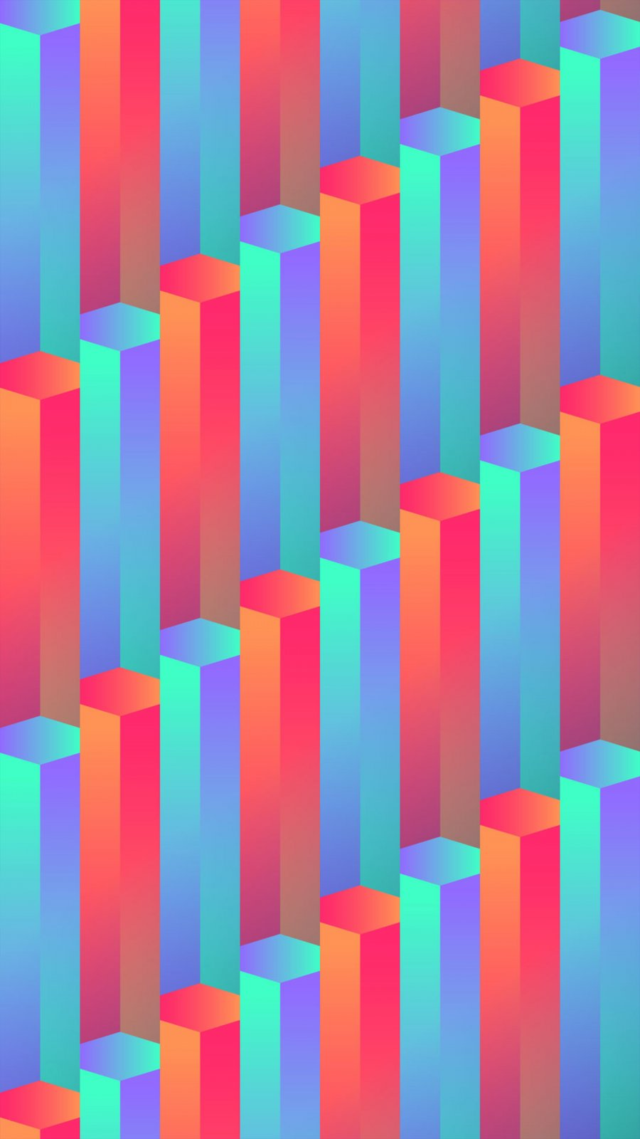 Abstract Blocks iPhone Wallpaper