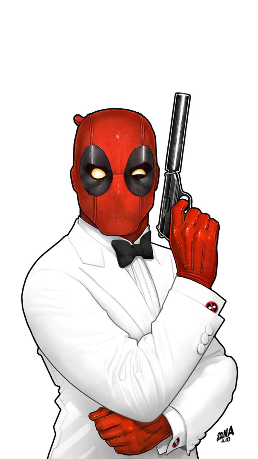 Agent Deadpool iPhone Wallpaper