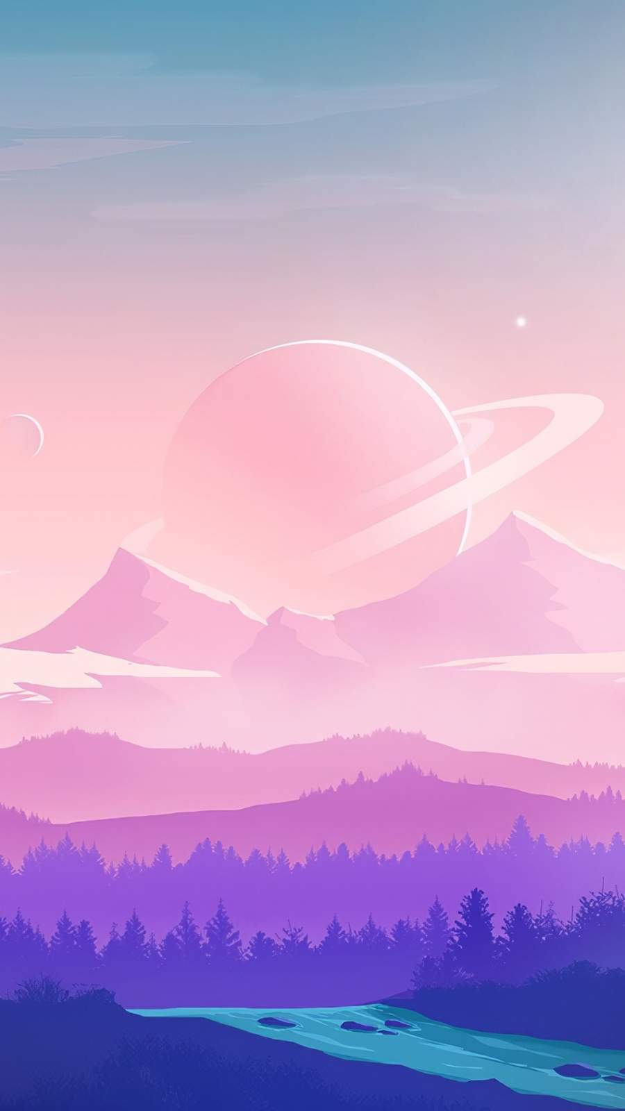 Alien Moon Nature iPhone Wallpaper