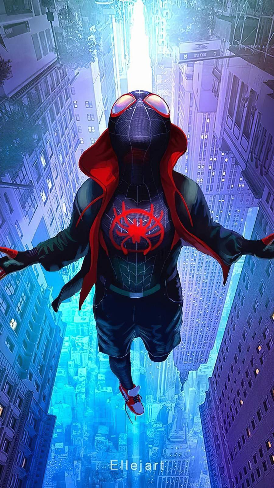 Artwork Spiderman Miles iPhone Wallpaper