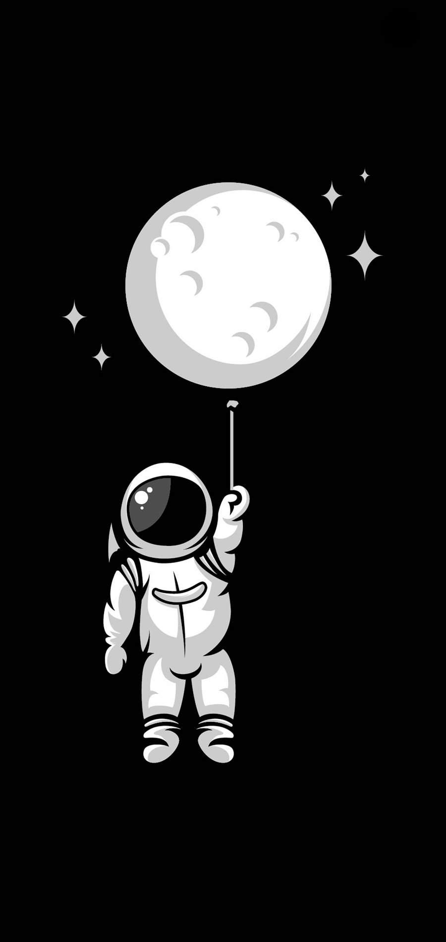 Astronaut Balloon iPhone Wallpaper